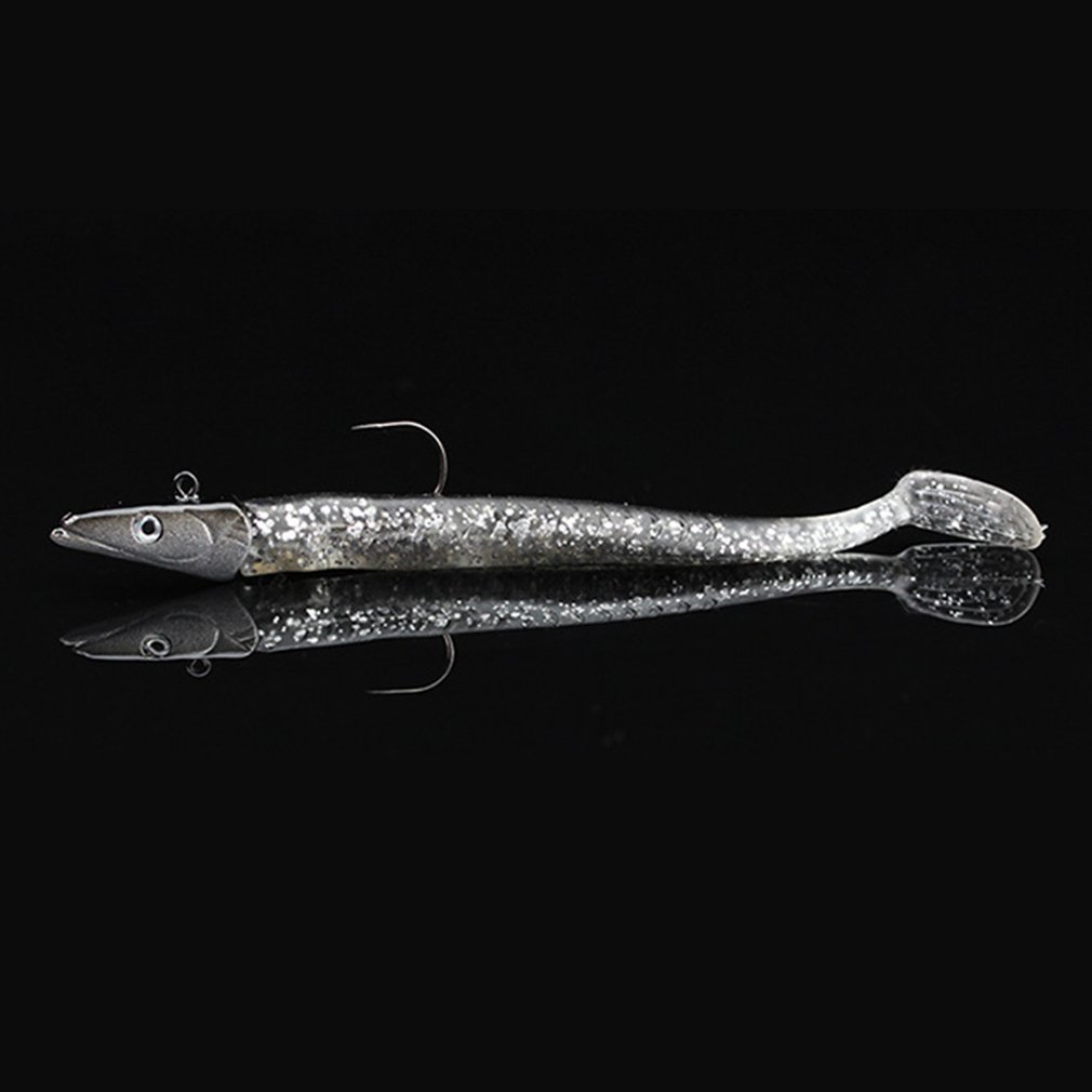 Lure Tackle-Fish-Hook Fishing-Supply Soft-Bait Lead-Head Sinking Simulation 11cm Vivid title=