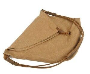 Image 5 - Coreano Retro della Nuova Annata militare degli uomini della tela di canapa + cuoio del Sacchetto di Spalla del Messaggero degli uomini di Uomini di Sacchetto Crossbody Borsa di sesso maschile sling Bag