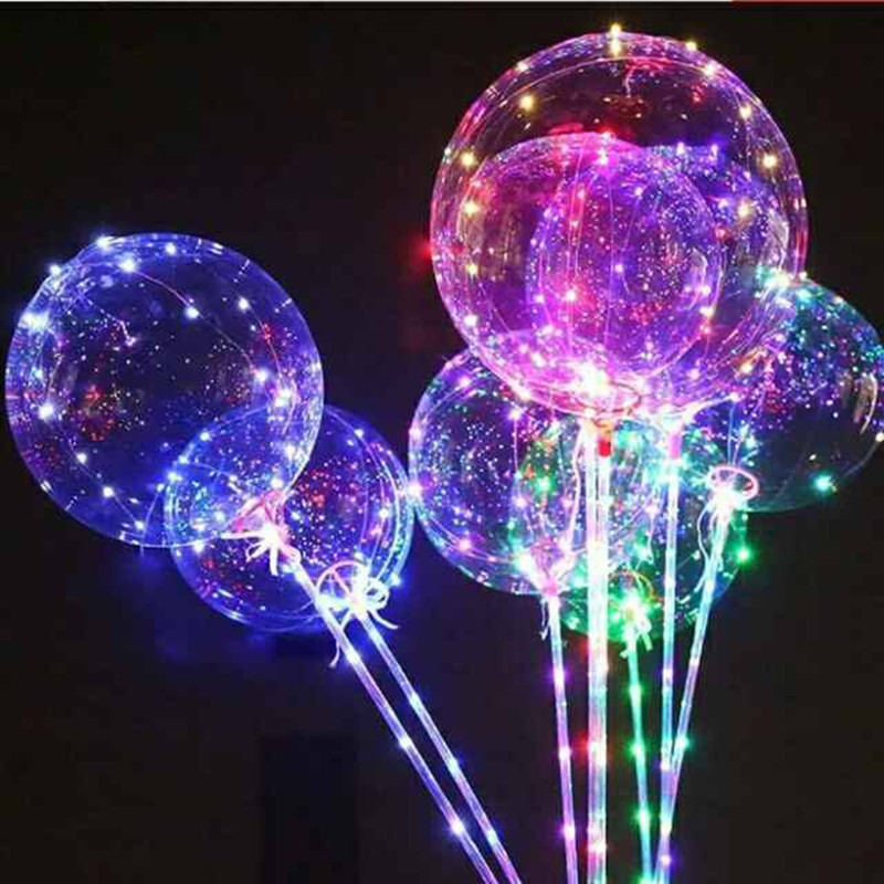 Festive & Party Supplies The Cheapest Price 100set Led Balloons Wedding Decoration Each Set Include 18 Inch Luminous Led Balloon+3m Led Strip+80 Cm Rod+battery Box