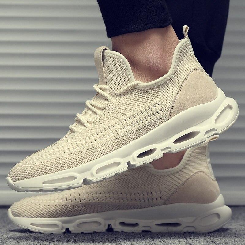 Hommes de chaussures d'été confortable respirant tendance joker fly sangle surface hommes augmenter loisirs chaussures de course