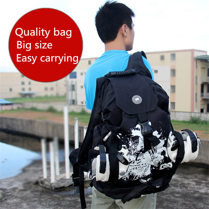 Image 2 - Quality outdoor roller skate shoes backpack with big size for sports camping men's backapck or women's for a variety of venues-in Skate Board from Sports & Entertainment