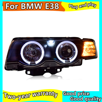 Car headlight For BMW E38 headlights 1998-2002 For E38 head lamp led DRL front Bi-Xenon Lens Double Beam HID KIT