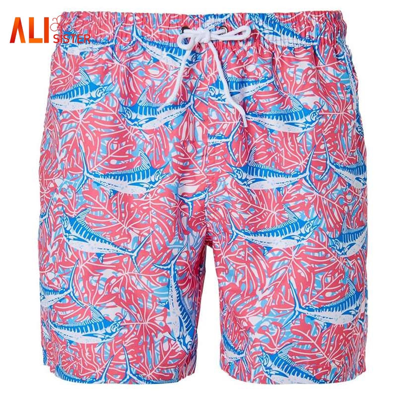 New Quick Dry Mens   Board     Shorts   2018 Newest Summer Hot Whale Printed Men's Swimwear Beach Fitness   Shorts   Hombre   Shorts