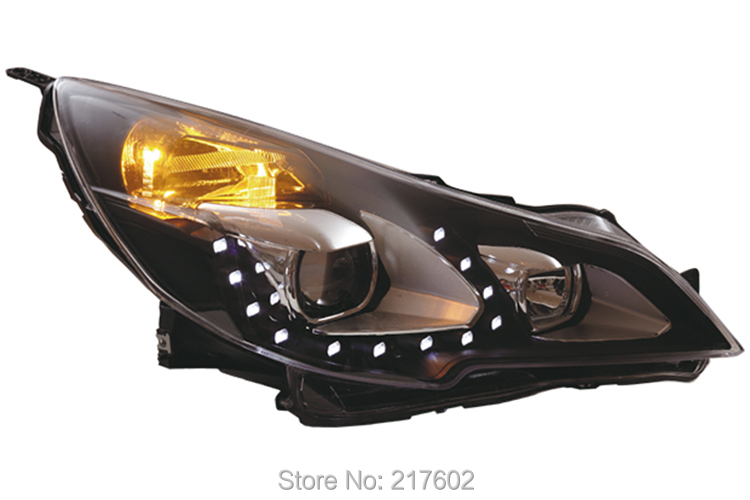 for Subaru Outback headlights car light assembly 2010 V2 type with LED line light LF