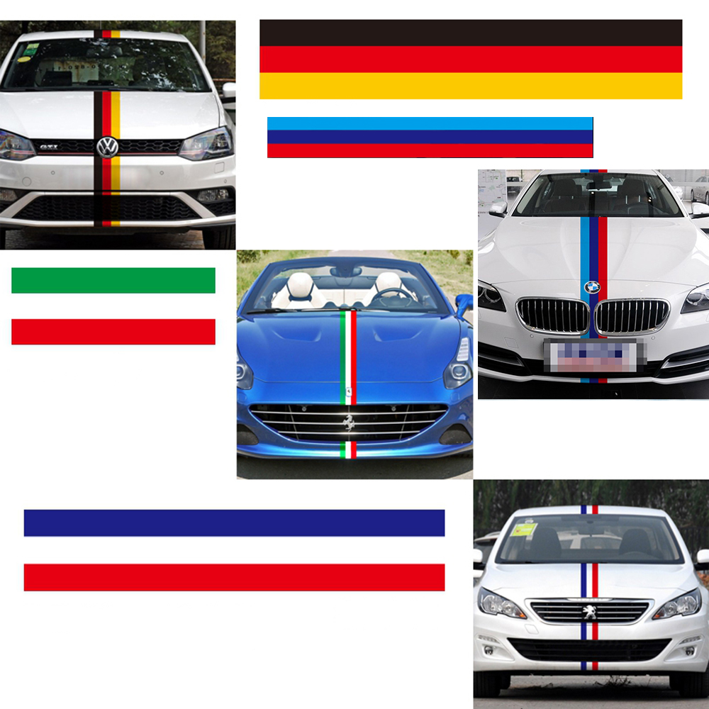 Car full body sticker design - Car Decoration General Personality Three Color Bar Car Whole Full Body Sticker And Decal For