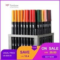 Japan Tombow ABT Dual Water Brush pen & Fine Tip Pen Professional CalligraphyArt Marker Pen for Bullet Journaling Card Making