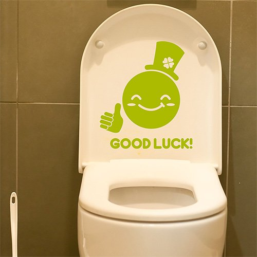 zhidebao good luck to you home decor ideas cute wall sticker paper toilet bathroom shower