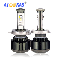 AICARKAS V16 Super Bright Auto Turbo LED Headlight H4 H1 H7 H11 HB3 9005 HB4 9006 XHP50 Chips Replacement Bulbs 6000K 10000LM