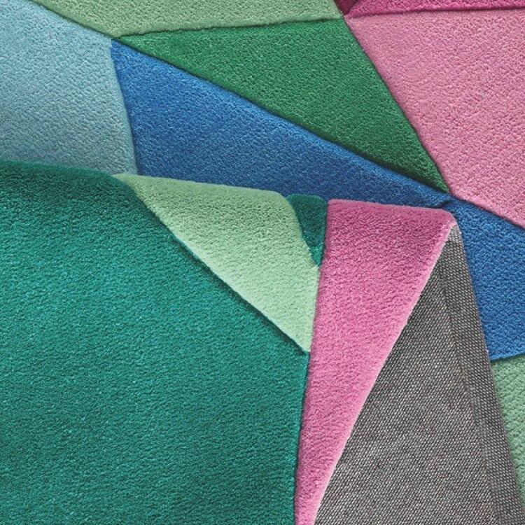 Ковры и ковры для коврик для гостиной Европейский современный гостиная спальня ромбовидная решетка в форме ковра