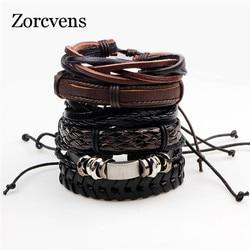 ZORCVENS Bracelets & Bangles mens leather bracelets Pulseira Masculina Jewelry Charm Bileklik Pulseiras Boyfriend Girlfriend