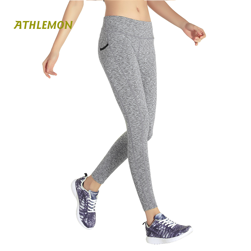 Yoga Pants with Pockets for Women High Waist Capri Lulu Leggings Sport Fitness Breathable Sexy Gym Running Pants Women Winter