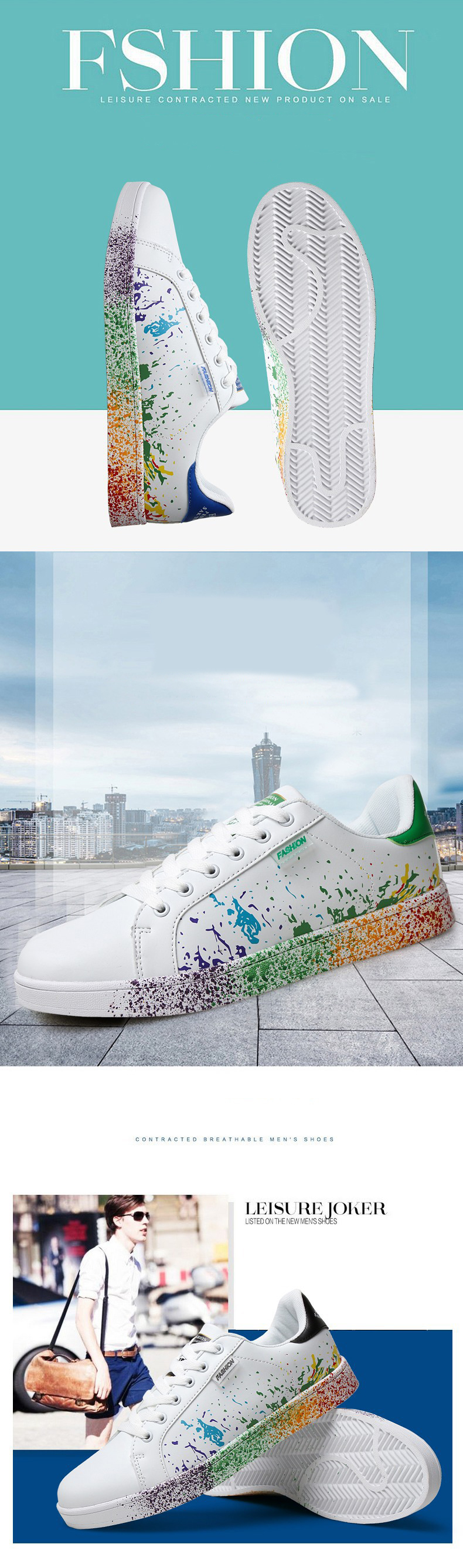 Xek 2018 New Design Casual Women Sneakers Painting Stylish Shoes