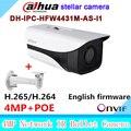 Original Dahua Rede IR Bala câmera 4MP DH-IPC-HFW4431M-AS-I1 estelar H265 H264 IP slot para cartão SD de Áudio IPC-HFW4431M-AS-I1