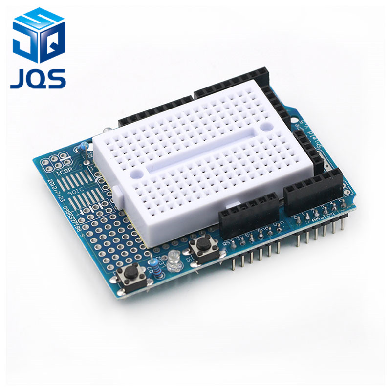 UNO ProtoShield prototype expansion board with SYB-170 mini breadboard based For ARDUINO UNO ProtoShieldUNO ProtoShield prototype expansion board with SYB-170 mini breadboard based For ARDUINO UNO ProtoShield