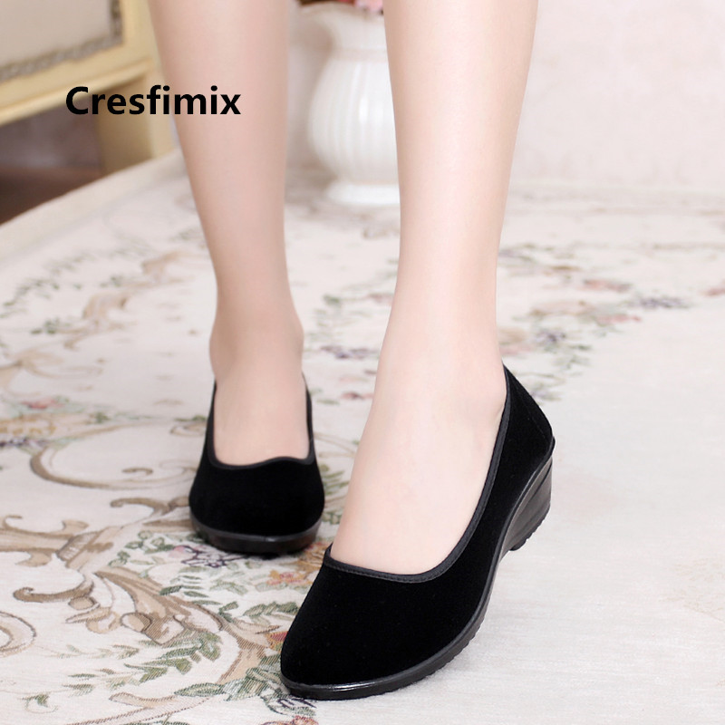 a3f0cad5937 Cresfimix zapatos de mujer women fashion plus size comfortable slip ...