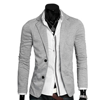 Ultra-slim Slim Jacket Single Button Cotton Blazer