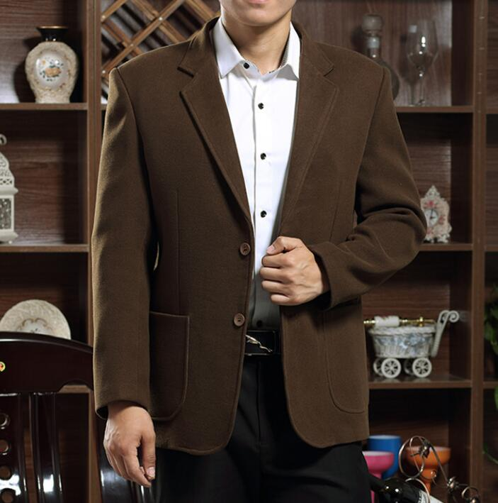 Autumn winter new business thicken casual Middle-aged jacket men blazer slim fit casaco jaqueta coats mens suits father wear