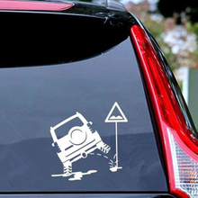 15 cm*15 cm SUV Urinating High Quality Waterproof Sticker On Your Car Moto Vinyl Decor Decals