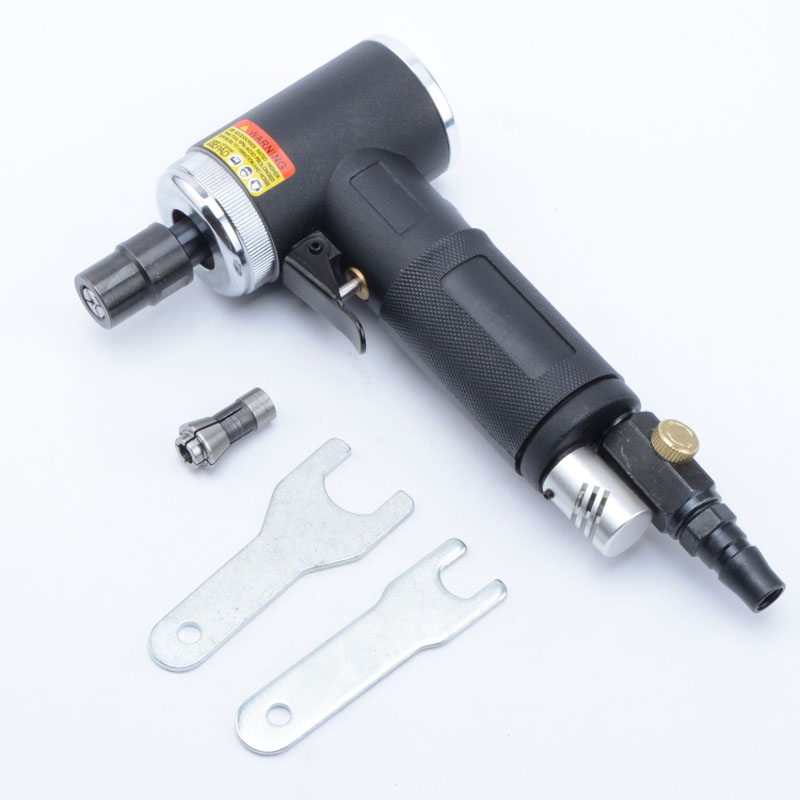 купить MY-942 pneumatic tools 90 degree elbow grinder right angle wind mill polishing machine 3mm 6mm pneumatic mold grinder tool недорого
