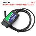 V1.4 1 5 м USB кабель ELM327 OBD2 инструмент для сканирования автомобиля диагностические инструменты Умный интеллектуальный OBD 2 II сканер интерфейс д...