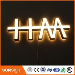 Aangepaste acryl materiaal led brief lichten teken voor reclame