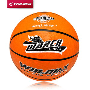 2017 Winmax Hot Sale Outdoor Indoor Game Size 3 / Size 5 / Size 7 Small Rubber Pelota Basketball Ball for Baby Child