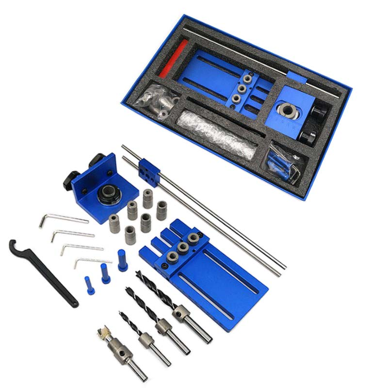 3 in 1 Drilling locator 08450 drilling guide kit Woodworking tool DIY Woodworking Joinery High Precision Dowel Jigs Kit