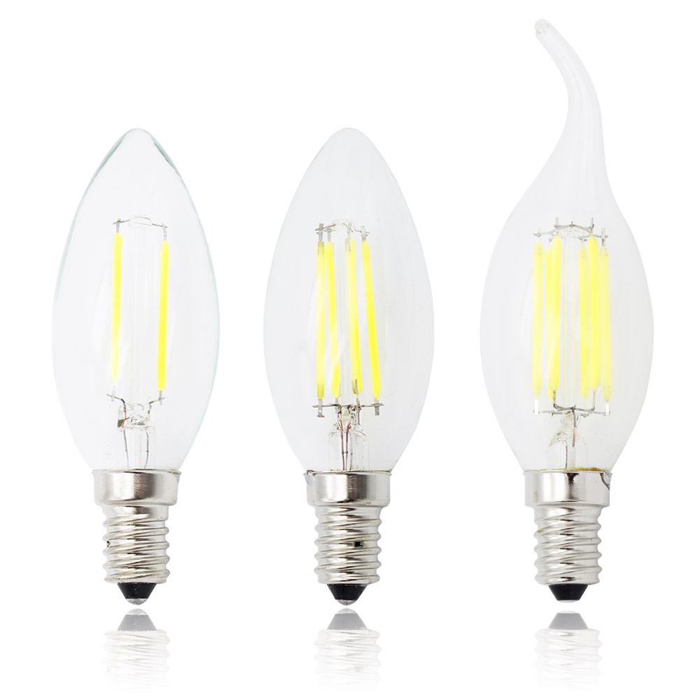 e14 led filament c35 lamp c35l dimmable glass candle bulb 220v 4w 8w 12w replace 20w 40w 60w. Black Bedroom Furniture Sets. Home Design Ideas