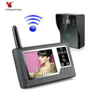Yobang Security freeship 2.4ghz Wireless 3.5 Video Door Phone Intercom Home Security Doorbell wireless video intercom doorphone