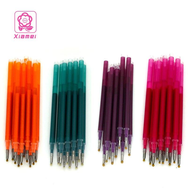 все цены на Xiamei Stationery 10pcs Plastic Erasable Gel Pen Refill Temperature Control Erase Refill Student Writing Erasable Gel Ink Pen онлайн