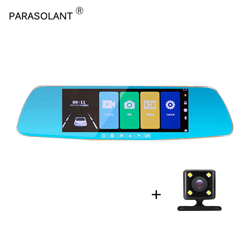 PARASOLANT HD Touch Screen Car Camera 1080P 150 Wide-angle Driving Recorder Ultra-clear Night Vision With Rear Camera Car DVR shadow recorder 2 7 tft touch key 140 1080p hd cmos wide angle night vision wdr car camcorder