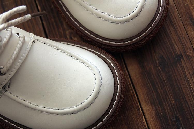 Art Lumière En Rétro Artisanat Casual Cuir Automne Nouveau Unique Noir Printemps blanc Mode Chaussures Brock Chaussures chocolat Et Japonais Bandeau XwRnqPO7x
