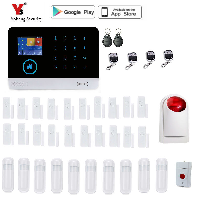 Yobang Security WIFI GSM English German Switchable RFID card Wireless Home Security APP Alarm system alarme maison sans fil yobang security wireless gsm