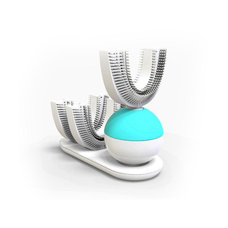 360 brosse à dents automatique brosse à dents électrique Ultra sonique brosses à dents sonique brosse à dents électrique Rechargeable blanc bleu nouveau