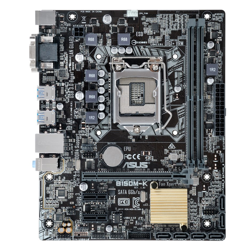 B150M-K D4 LGA1151 all solid-state computer motherboard