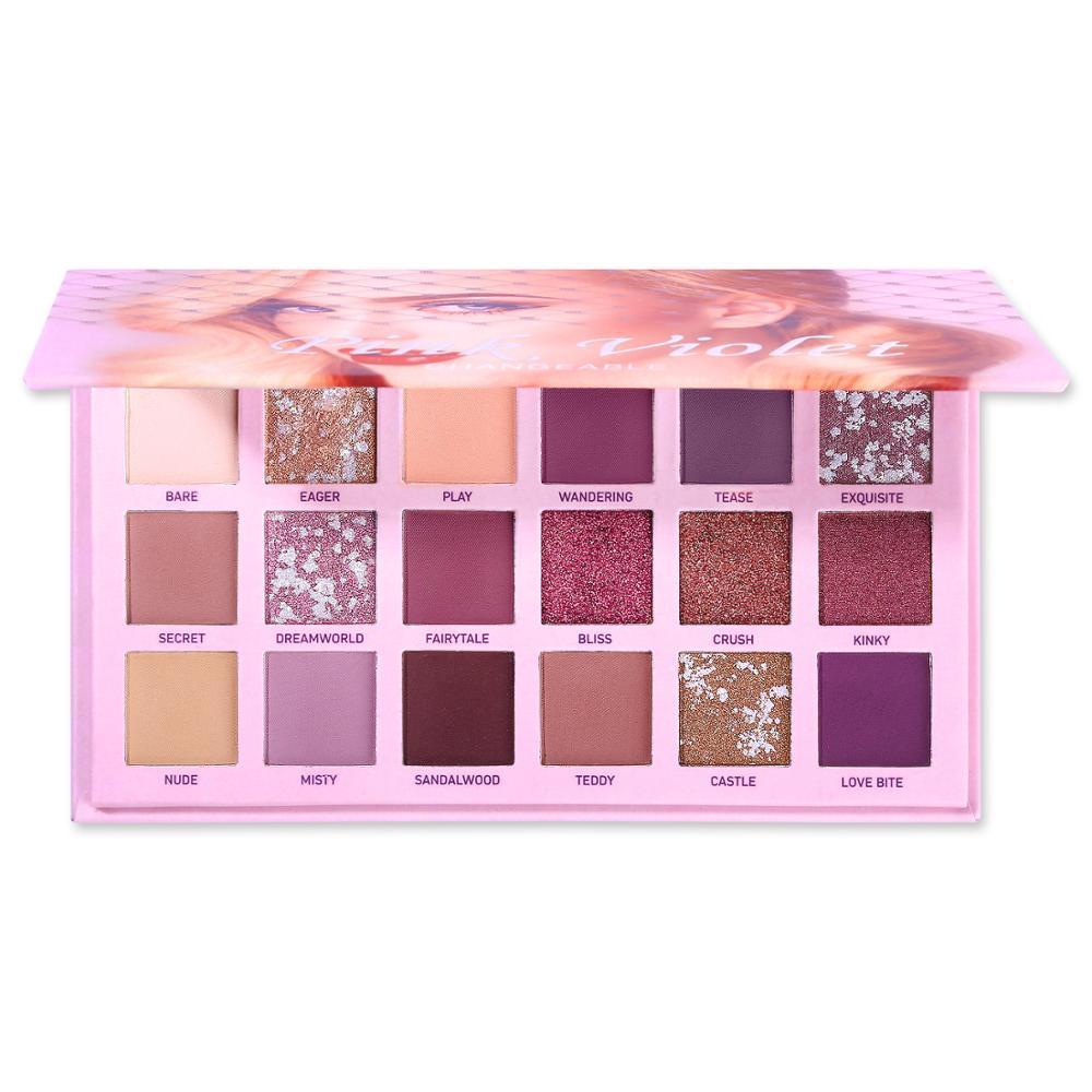 Changeable Nude Eye Shadow Beauty Palette Makeup Kit 18 Colors Matte Shimmer Glitter Eyeshadow Powder Waterproof Pigmented 2