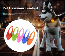 PET de silicon LED lampă câine Pendant pandantiv Pet Dog silicon de lumină Pandantive A32