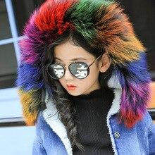 2017 Korean winter in children with cashmere coat girls cowboy short children