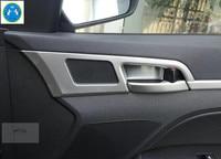 Lapetus For Hyundai Elantra Sedan 2016 2017 ABS Inner Handle Knob Bowl Frame Cover Trim
