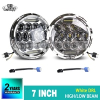 CO LIGHT 75W 35W 7 Round Headlights Led DRL Turn Signal Light Hi Lo For Jeep