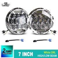 CO LIGHT 75W 35W 7 Round Headlights Led DRL Turn Signal Light Hi Lo For Jeep