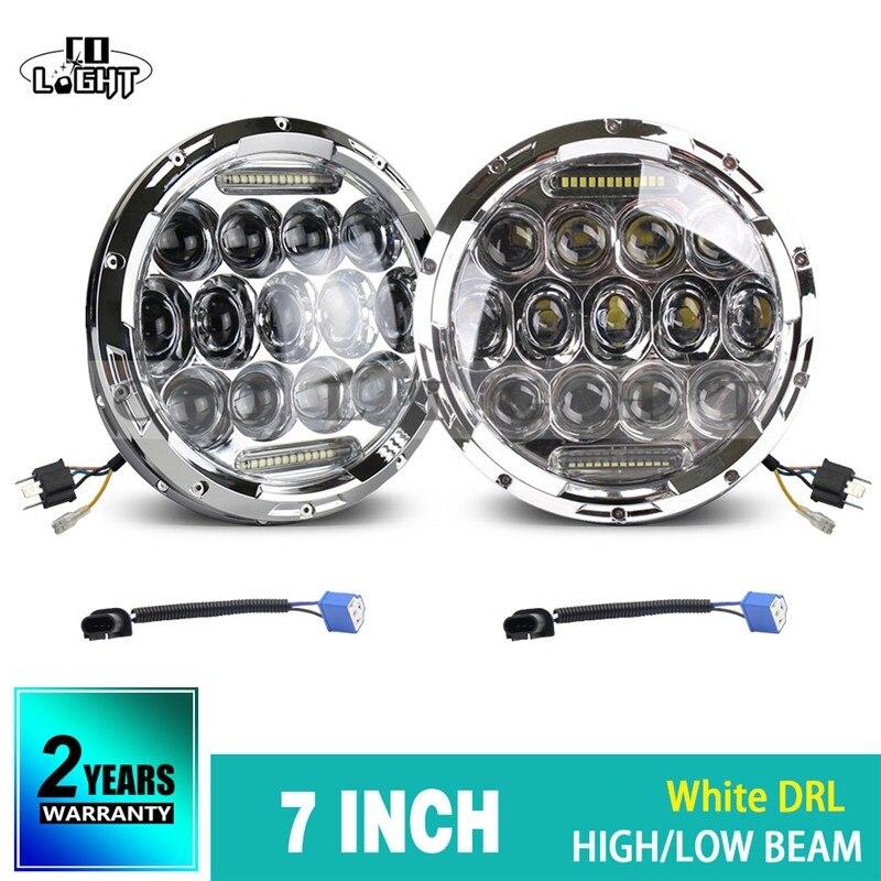 CO LIGHT 75W 35W 7 Round Headlights Led DRL/Turn Signal light Hi/Lo For Jeep Wrangler Land Rover Defender Lada 4x4 urban Niva