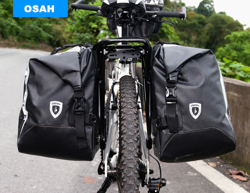 OSAH Best Long Trip Cycling bags 50L IPX6 Waterproof Riding Rack Pack Luggage Bag Bicycle Saddle Bag Cycling Rear Seat Tail Bag osah dry bag kayak fishing drifting waterproof bag bicycle bike rear bag waterproof mtb mountain road cycling rear seat tail bag