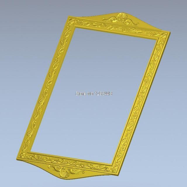 Square Picture frame Frame_46 3d model design exclusive oval frame ...