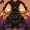 Thick and Soft Virgin Hair 180 Density Full Lace Wig Glueless Brazilian Full Lace Human Hair Wigs with Baby Hair for Black Woman