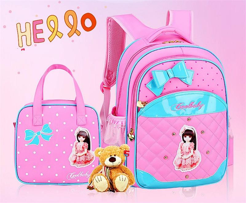 Hot Girl School Bags PU Leather Bag Korean Children School Bowknot ... 3c5aaed85fd11