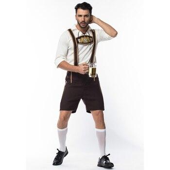 Più degli uomini di Formato Costumi Oktoberfest Tradizionale Tedesco Bavarese della Birra Cosplay Maschile di Halloween Octoberfest Festival Del Partito Vestiti