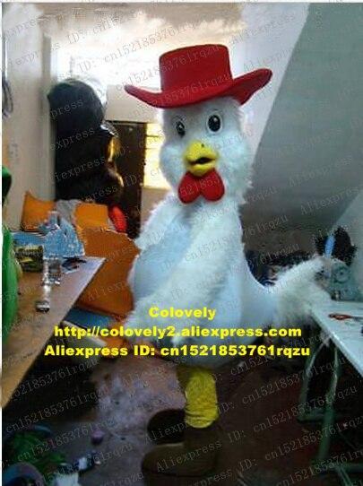 SchöN Weiß Huhn Chook Hahn Hahn Henne Küken Maskottchen Kostüm Erwachsene Charakter Erholung Boden Theateraufführungen Zz6618 Sparen Sie 50-70%
