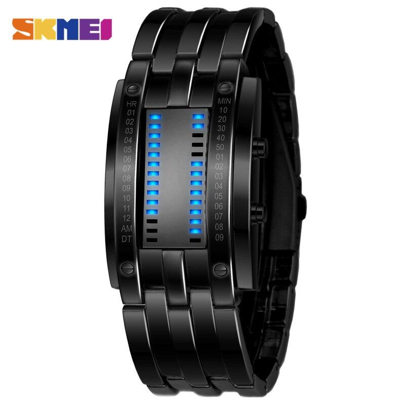 Красивые тонкие черные часы
