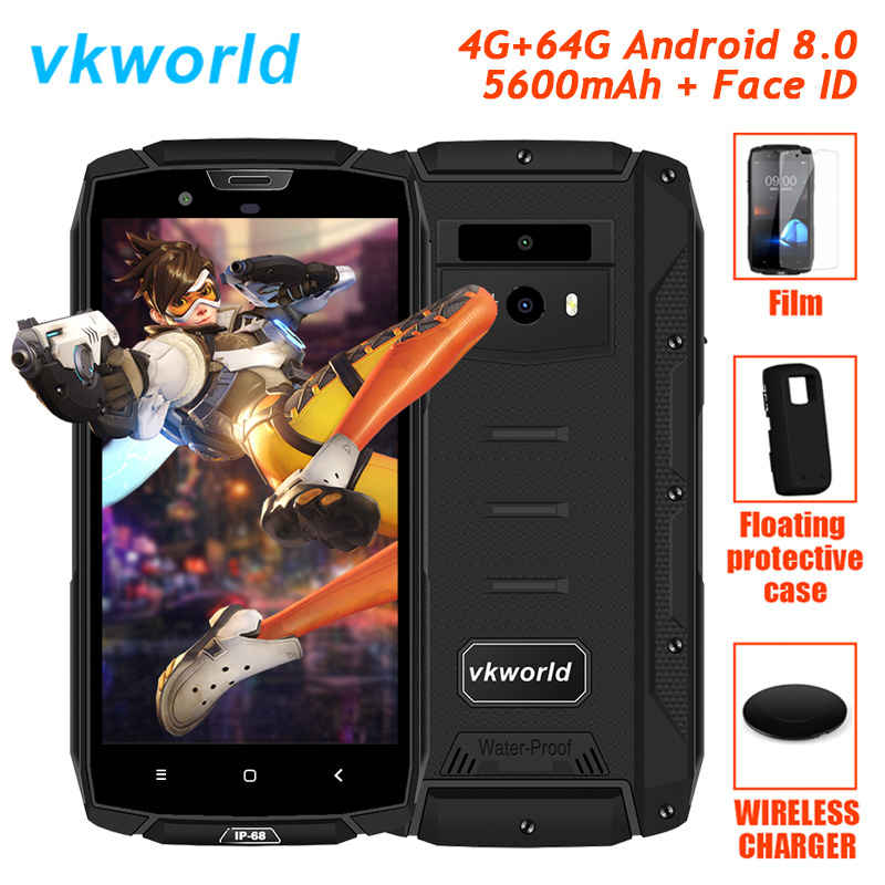 Originale Vkworld VK7000 4G LTE Robusto Impermeabile Telefono Shockproof Android 8.0 Oreo Octa Core 4 GB + 64 GB smartphone IP68 5600 mAh